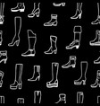 seamless background of various female boots vector image
