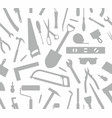 seamless pattern of tools silhouette vector image