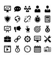 seo and digital marketing glyph icons 7 vector image vector image