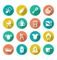 Set flat icons of newborn baby vector image vector image