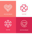 set logo design elements and templates vector image
