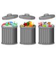 set metal plastic container vector image