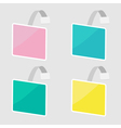 Set of square wobblers Empty template Flat design vector image vector image