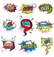set of stickers bubbles with text short messages vector image vector image