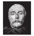 shakespeare death mask frontal view vintage vector image vector image