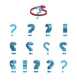 sheet of sprites rotation of cartoon 3d question vector image vector image