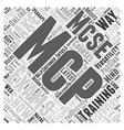 Show Your Versatility It s The MCP Way Word Cloud vector image vector image
