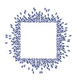 square frame with flower leaves vector image vector image