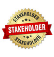stakeholder round isolated gold badge vector image vector image