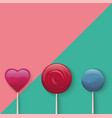 sweet lollypop vector image