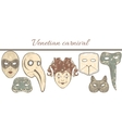 template with composition of Venetian masks vector image vector image