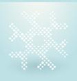 thick snowflake composed of small polka dots vector image vector image