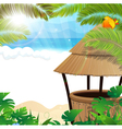 Tropical beach with cocktail Bar vector image vector image