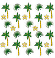 tropical summer semaless pattern cartoon vector image vector image