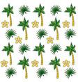 tropical summer semaless pattern cartoon vector image