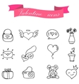 Valentine element of icon collection vector image vector image