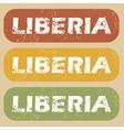 Vintage Liberia stamp set vector image vector image