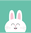 white bunny rabbit with long ears cute cartoon vector image vector image