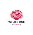 wild rose flower logo icon vector image