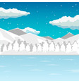 winter sea and mountain landscape neverending vector image