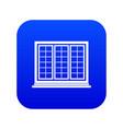 wooden tricuspid window icon digital blue vector image vector image