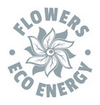 eco flower logo simple gray style vector image