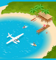 its summer time or summer vacation concept luxury vector image
