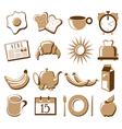 Morning symbol set vector image