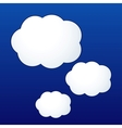 cloud shape stickers vector image