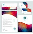 corporate identity wave pattern Abstract vector image