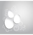 Abstract easter eggs on gray backround vector image vector image