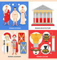 ancient rome flat concept vector image vector image