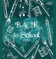 back to school background with brushes crayons vector image vector image