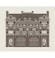 baroque house vector image vector image