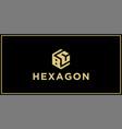 bc hexagon logo vector image vector image