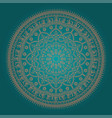 beautiful ethnic mandala vector image vector image