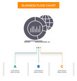 big chart data world infographic business flow vector image vector image