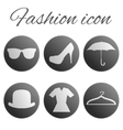 Black fashion realistic button set vector image