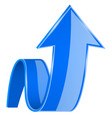 blue 3d up arrow vector image vector image