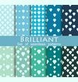 brilliant set of seamless patterns flat diamonds vector image