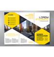 brochure 3 fold flyer design a4 template vector image vector image