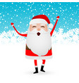 cartoon funny santa claus dancing vector image