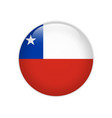 chile flag on button vector image