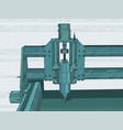 cnc machine for 3d carving vector image vector image