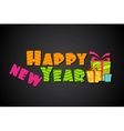 Colorful New Year vector image vector image
