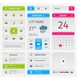 colorful set mobile interface elements on gray vector image vector image