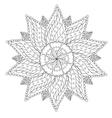 Coloring Floral Vintage Mandala vector image