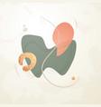 creative minimalist hand drawn abstract vector image vector image
