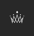 Crown design element monogram abstract logo thin vector image