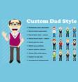 custom dad style vector image